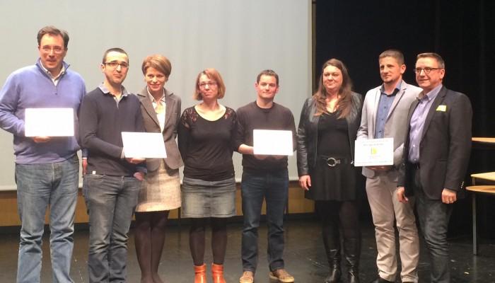 Les Quatre Entreprises Primées Lors Des Trophées Des Entreprises Du Pays De Vitré 4em Edition