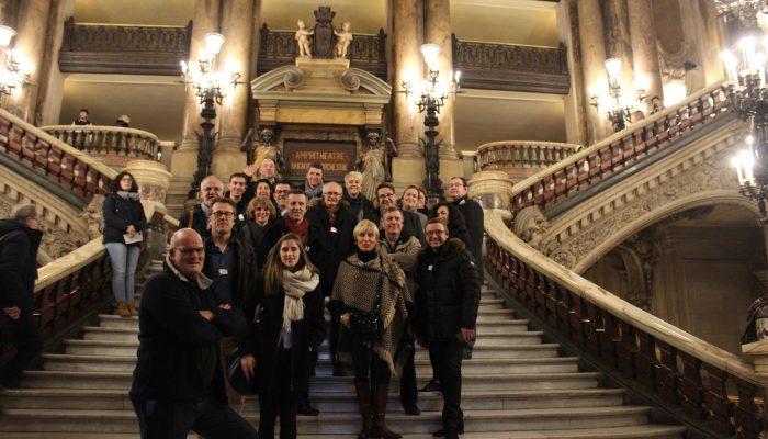 Une Délégation Du Club Grand S Lors De La Visite De L'Opéra Garnier
