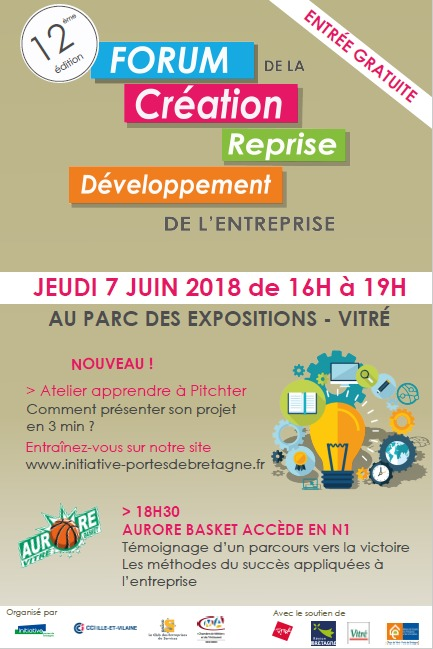 Forum creation d'entreprise a Vitré 2018