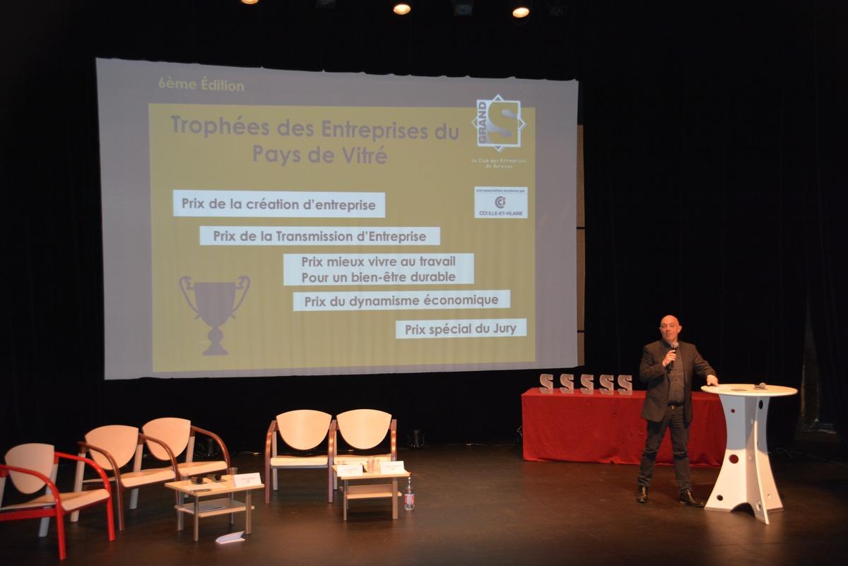 Vincent SIMONNEAUX Animateur Des Trophées Des Entreprises à Vitré